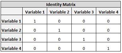 Identity matrix example picture